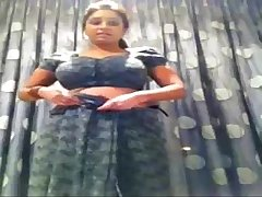 Self Made Video Of Indian College Girl Changing Saree