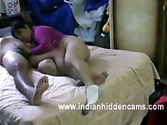 mature indian bhabhi sucking and fucking her hubby big cock riding on top